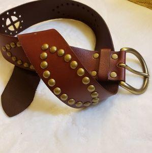 Anthro Linea Pelle leather handmade studded belt